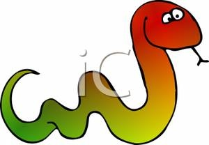 this depicts snakes to be multi-coloured, being green at one end and red on the other end seeing a snake like this would set an atmosphere that would confuse but also amaze you