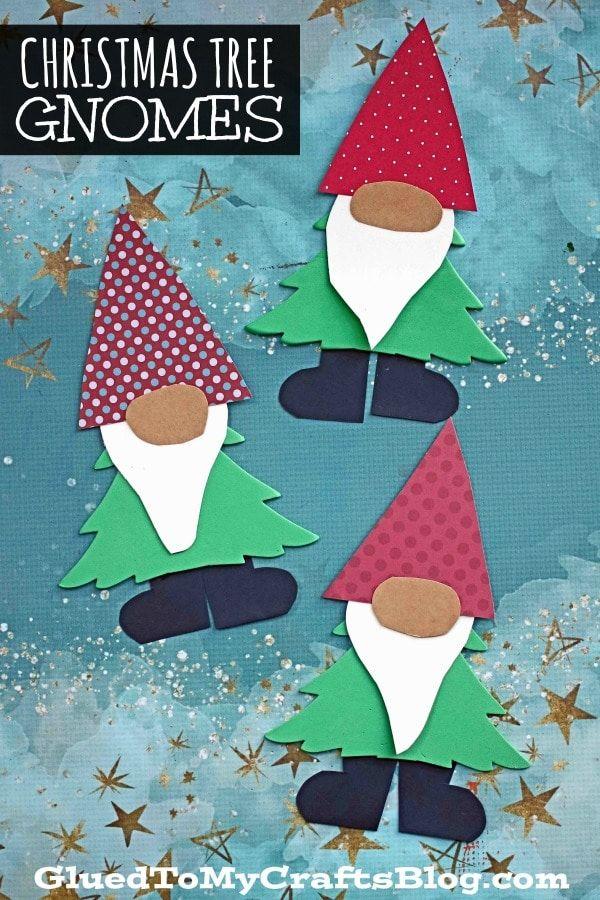 Christmas Tree Gnome Kid Craft