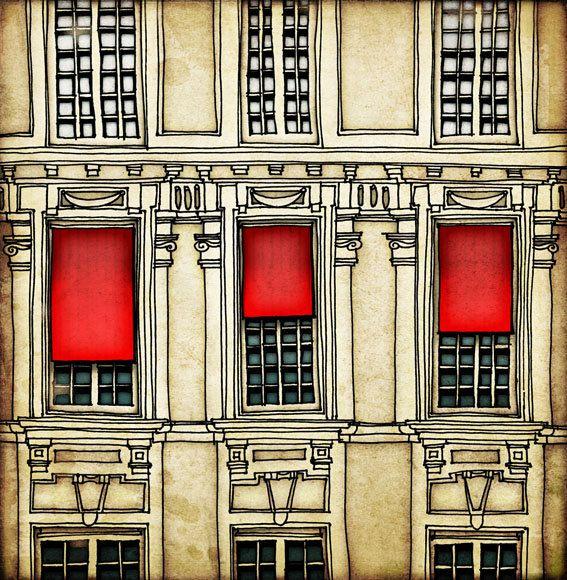 Paris illustration  Paris centre  Fine art illustration