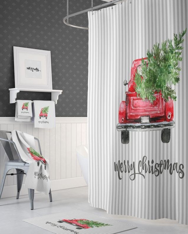 These Christmas Bathroom Sets Will Ensure Your Whole Home Is Decorated For The Holidays Christmas Shower Curtains Christmas Bathroom Sets Christmas Bathroom
