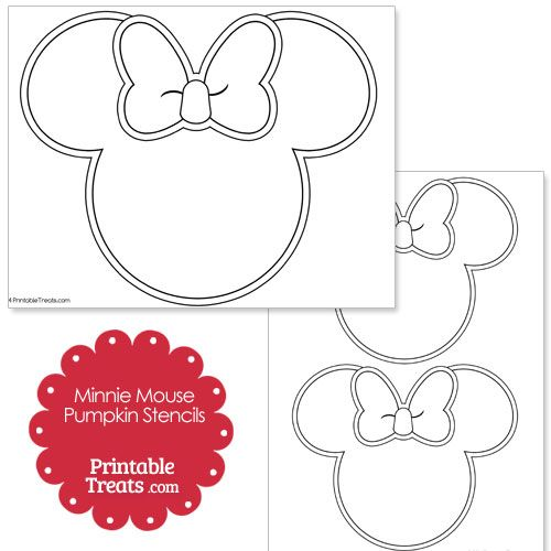 Printable Minnie Mouse Pumpkin Stencils from PrintableTreats.com