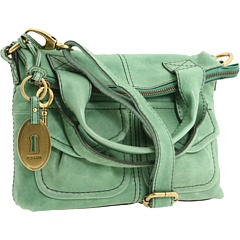Mint green leather Fossil purse.