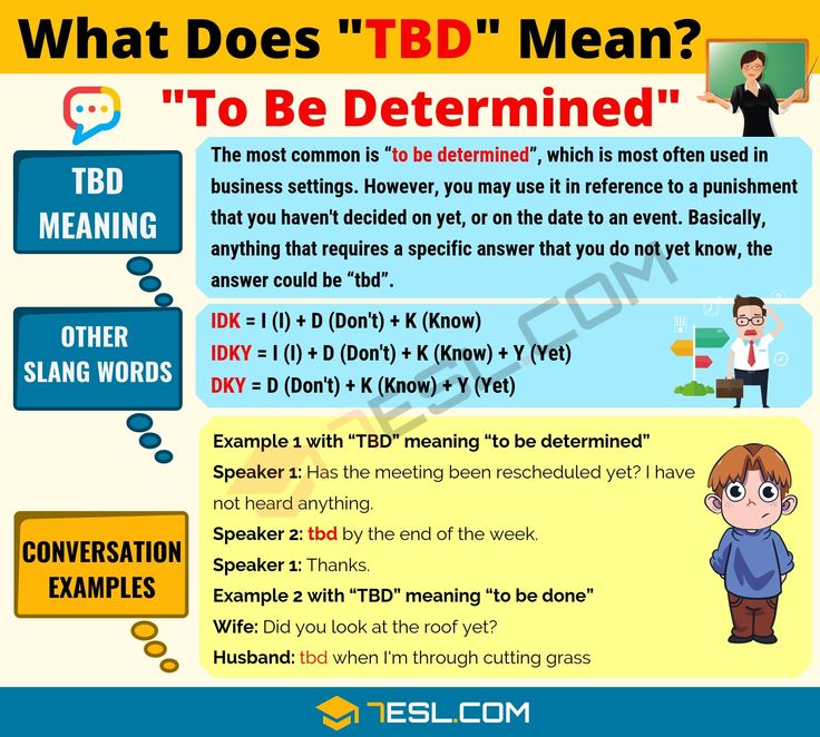 Tbd Meaning What Does Tbd Mean Useful Text Conversations 7esl Slang Words Text Conversations Meant To Be
