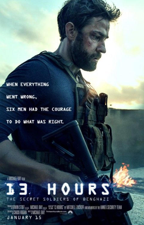 13 Hours: The Secret Soldiers of Benghazi Movie Poster (2016) - This is the true account of six soldiers and what they braved during 13 hours when the U.S. State Department Special Mission Compound and a CIA station were attacked by terrorists in Benghazi.