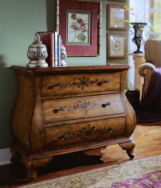 Hand Painted Chestnut Bombay Chest   Overstock™