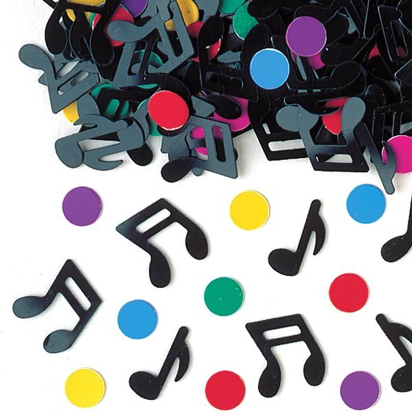 Confetti musical notes - great for a One Direction party £1.55 14g