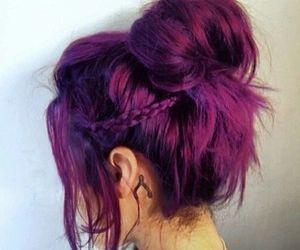 Fryzury  Kolorowe włosy: Fryzury Długie Na co dzień Proste Kok Kolorowe - krisztaaalll - 2948991