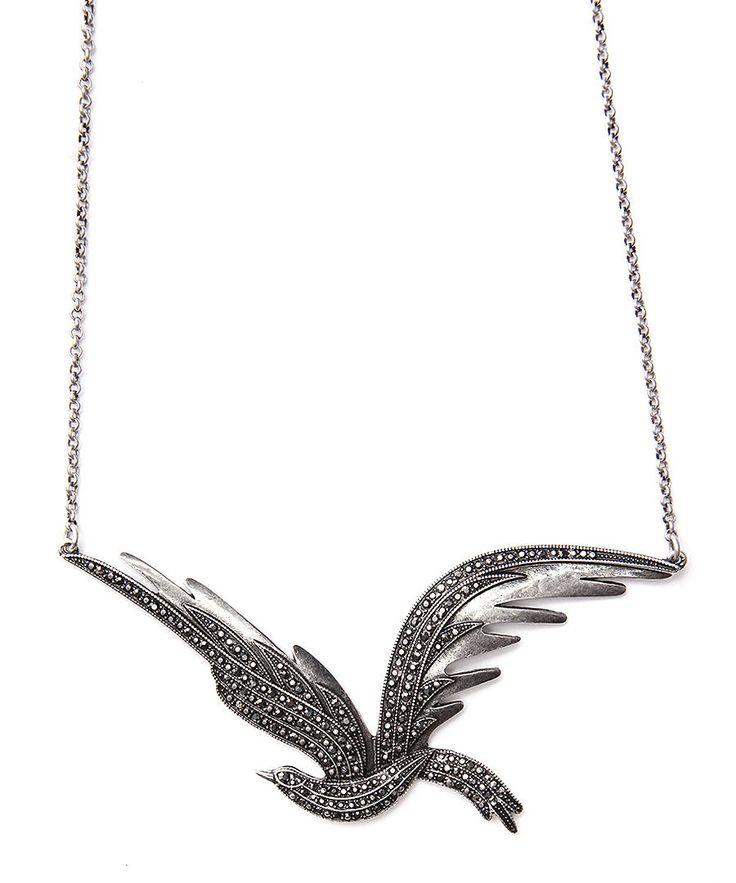 Pilgrim Jewelled Bird Necklace in Silver, Designer Jewellery Sale, Pilgrim Jewellery, Secret Sales