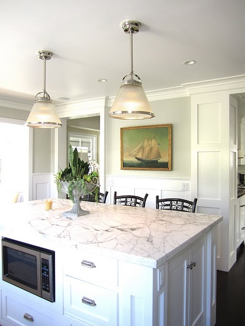 California french cottage home tour kitchens lights and for Casual home kitchen island