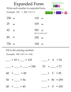 Free Printable Dot To Dot Worksheets 1-100 Pdf Best  Expanded Form Worksheets Ideas Only On Pinterest  Dot To Dot Worksheets Hard with Pre K Science Worksheets Excel Math Worksheets For Grade Worksheet For Letter N Word