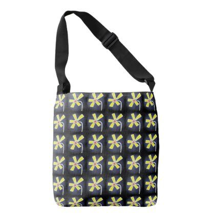 Daisy Pattern Cross Body Crossbody Bag - patterns pattern special unique design gift idea diy