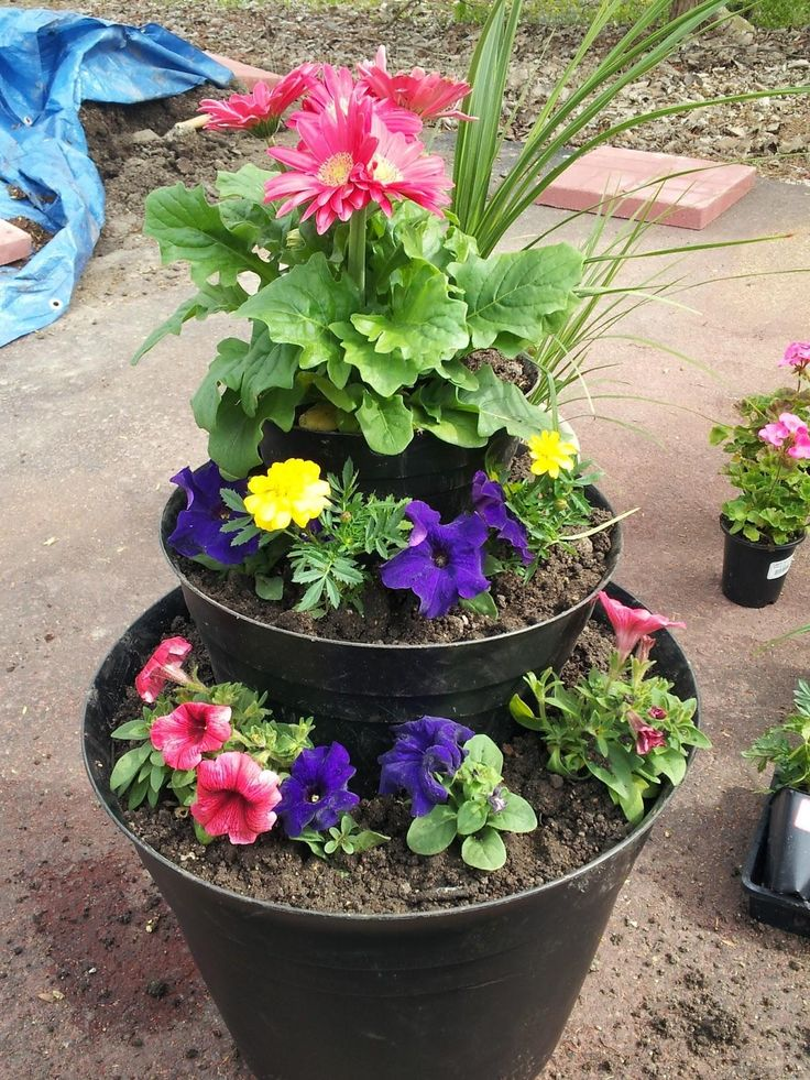 64 Best Diy Tiered Planter Images On Pinterest Tiered 640 x 480