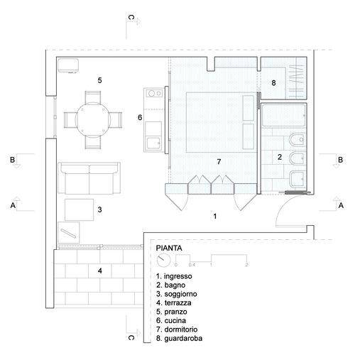 plan / joinery organising space Alfredo Borghi