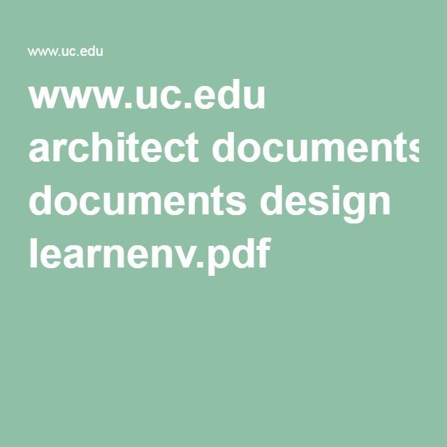 University Of Cincinnati Classroom Design Guide ~ Best images about design guidelines on pinterest