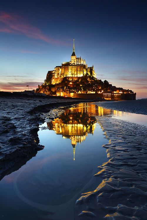 Mont St. Michel reflection, Normandy, France