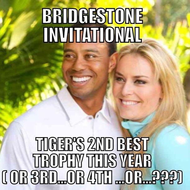 #tiger #woods #golf #pga #bridgestone #lindseyvonn #meme #golfmeme #sports #lol #picoftheday #funny