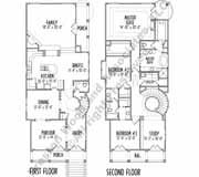 Narrow house plan c7245 2 story no garage no basement for No basement house plans