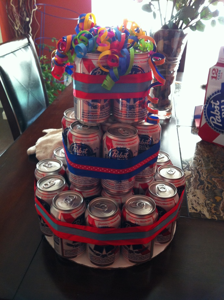beer can cake can cake my take on a cake 24 pack of cans 1633