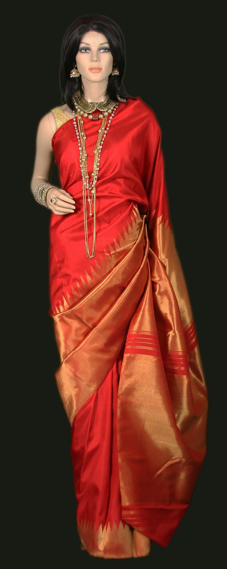 25+ best ideas about Red saree on Pinterest | Blouse ...