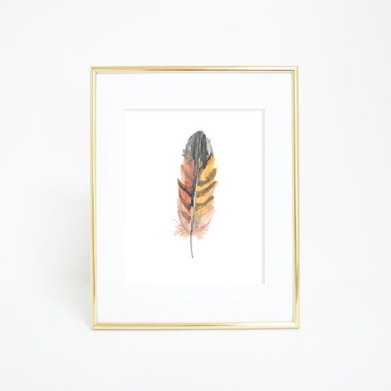 Watercolor Feathers, Feather Wall Art, Feather Art Print, Printable Wall Art, Nursery Art, Watercolor Feather, Feather Art, Tribal Feathers