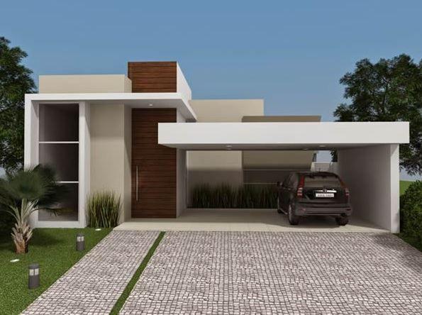 Diseños de cocheras abiertas para casas de un piso