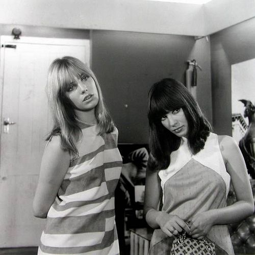 "Jane Birkin and Gillian Hills in ""Blow-Up"", 1966."
