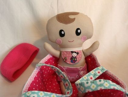 Girl Baby doll with carry basket
