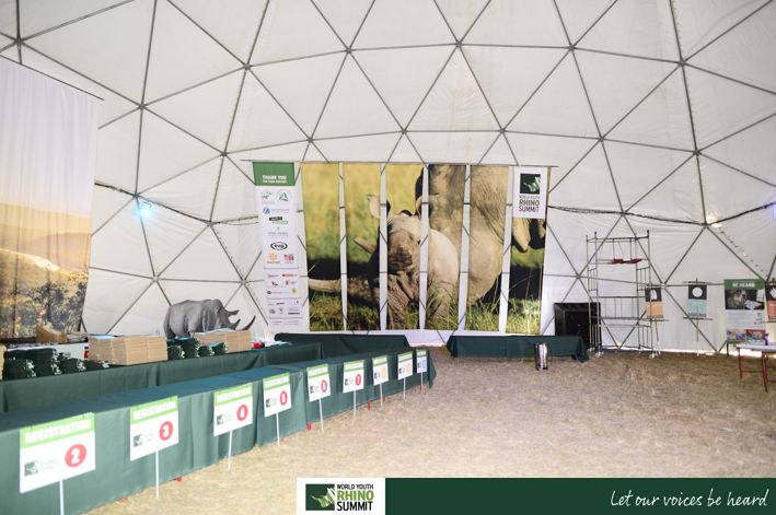 Inside our incredible dome... #RhinoSummit2014 #rhino #explore #wildlife