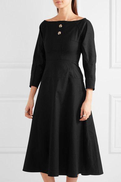 Rejina Pyo - Mina Cotton-blend Poplin Dress - Black - UK10