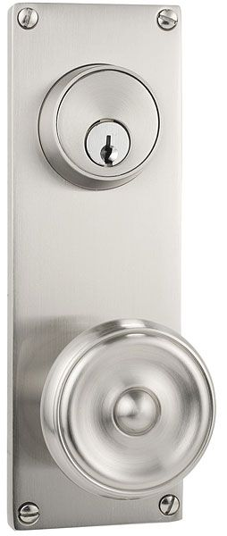"Modern Keyed Style 3-5/8"" C-to-C | Contemporary Lock Sets | Sideplates | Emtek Products, Inc."