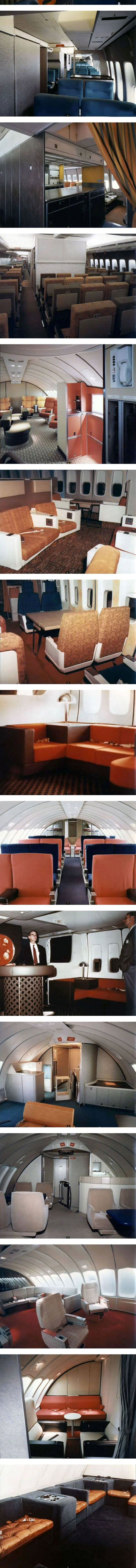 Airplane Travel In The 1970s - all of these are of course in the Boeing 747