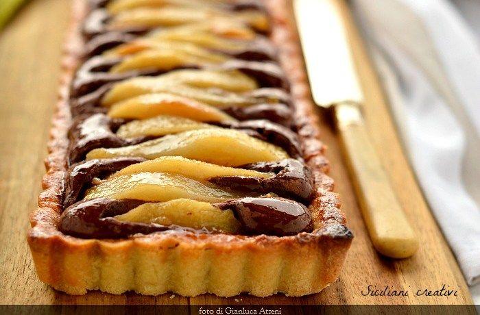 Crostata pere e cioccolato | SICILIANI CREATIVI IN CUCINA | di Ada Parisi