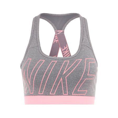 Nike Performance Sport BH carbon heather/dark grey/lava glow