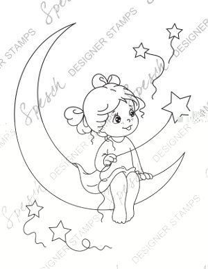 Moon Digital Stamp