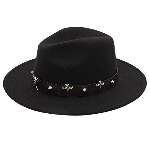 a338f2792e554 EKINHUI Wool Women Outback Gold Circle Fedora Hat for Winter Autumn  ElegantLady Floppy Cloche Wide Brim