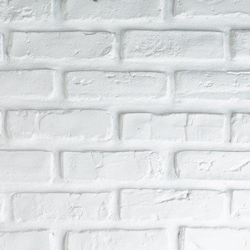Plaquette de parement en plâtre, briquette blanche à peindre. - Tous les produits plaquettes de parement - Prixing
