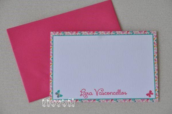 Cartão simples–Borboleta  :: flavoli.net - Papelaria Personalizada :: Contato: (21) 98-836-0113 vendas@flavoli.net