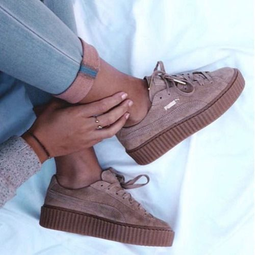 Puma Creepers Velvet On Feet