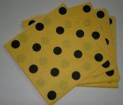 Sarı Siyah Puantiyeli Peçete 20 Adet
