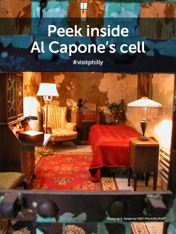 Philly Bucket List Tip: Peek inside Al Capone's cell at Eastern State Penitentiary.
