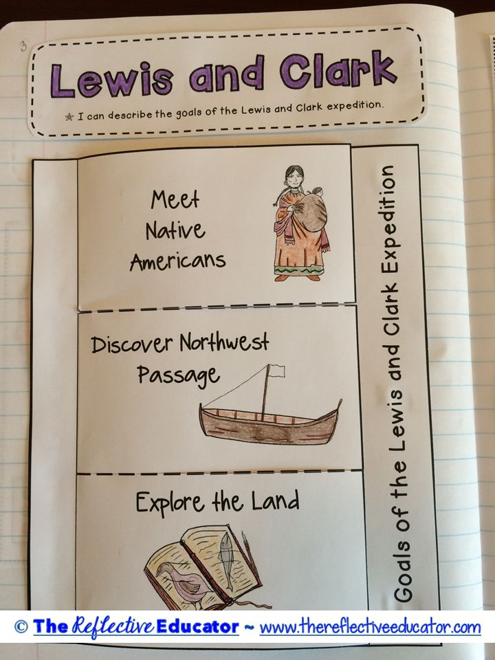 """Lewis and Clark"" is a Social Studies lesson designed to teach upper elementary students about the major purposes of the Expedition. Students first read an original, content-rich informational text. They create a map of the expedition's journey and a foldable to understand the text."