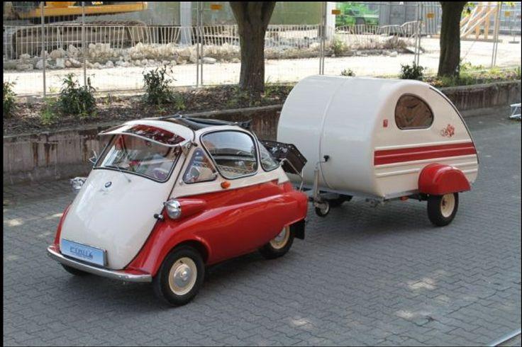 BMW Isetta mit Wohnwagen | Camping | Pinterest | Bmw ...