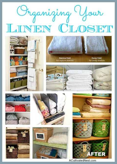 Fantastic ideas for organizing your linen closet!