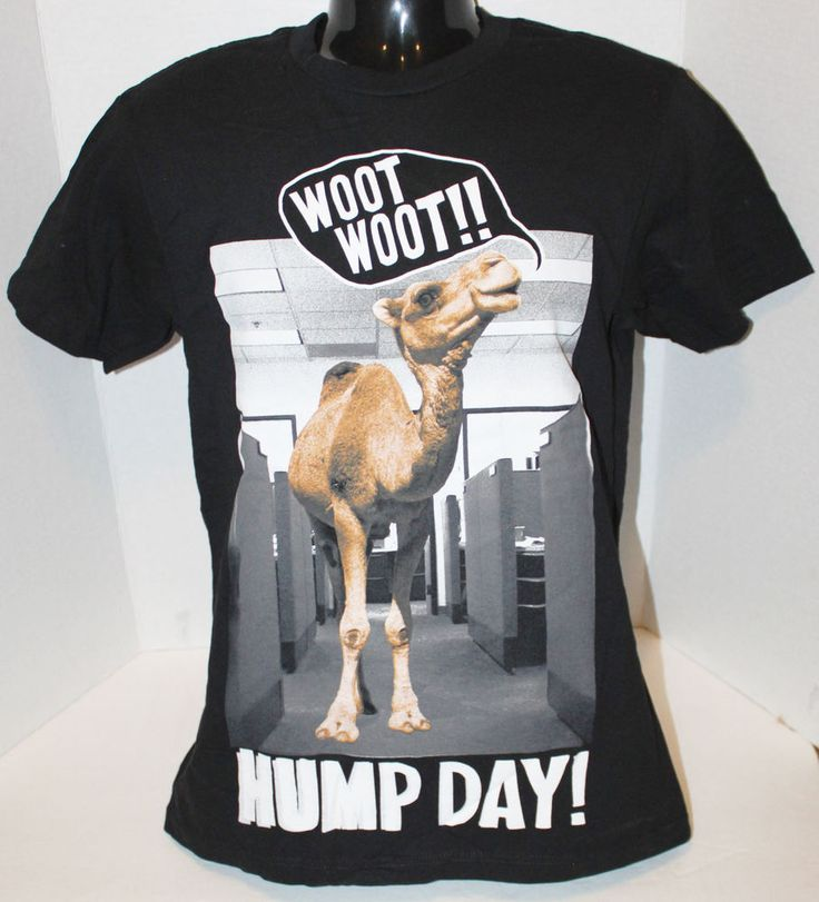 HYBRID CAMEL WOOT WOOT IT'S HUMP DAY T-SHIRT MENS SMALL OR WOMEN SHIRT NEW #Hybrid #ShortSleeve