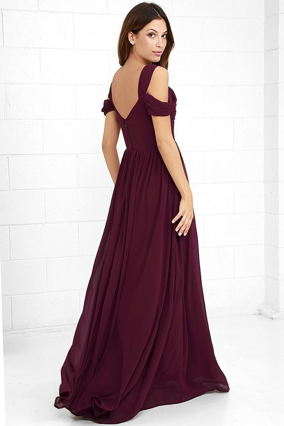 You'll be the hit of any dance floor in the Make Me Move Burgundy Maxi Dress! Double shoulder straps lead into a gathered surplice bodice with a sweetheart neckline. Pleated empire waist flows into an elegant woven maxi skirt. Hidden back zipper with clasp.