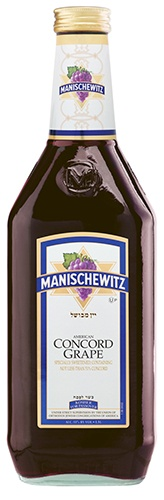 Manischewitz Concord: Manischewitz Concord Grape is a sweet but balanced wine with a generous mouth feel. According to the winemaker, it has a distinct aroma and flavor of fresh Concord grapes.