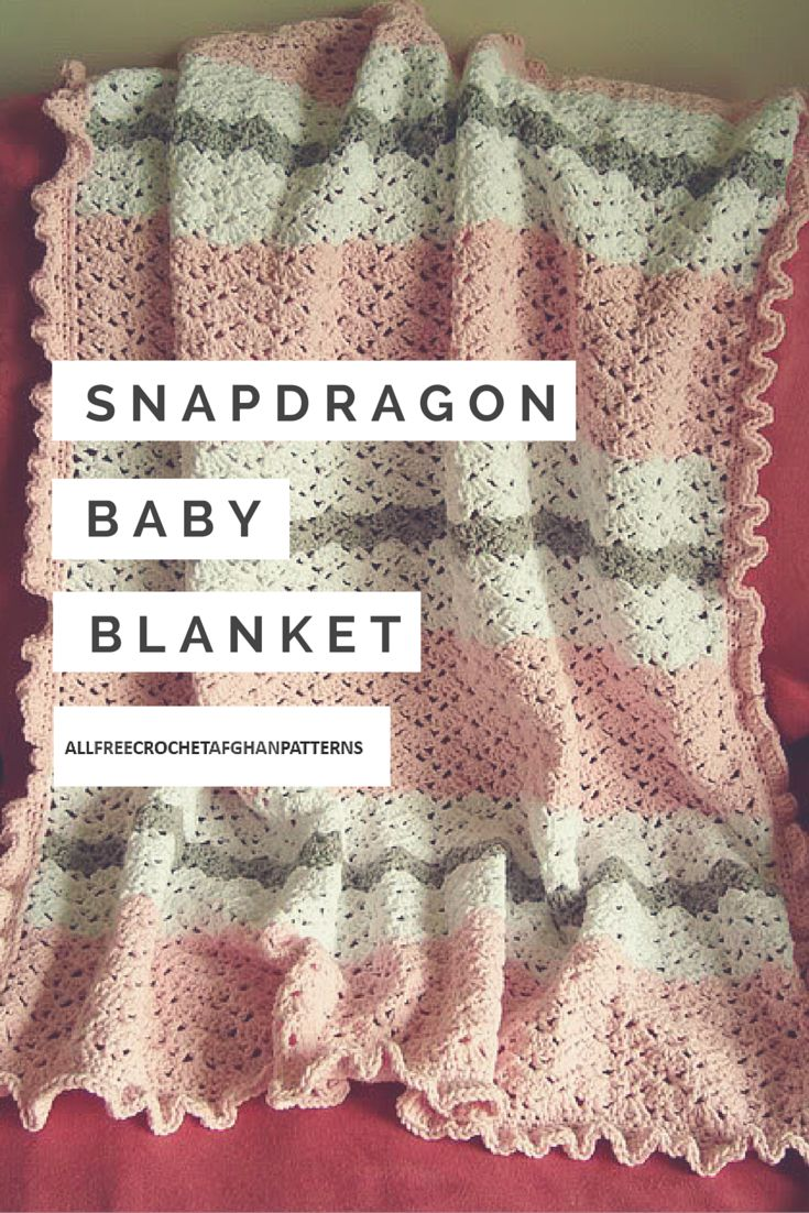 Snapdragon Baby Blanket Crochet Baby Blankets Pinterest