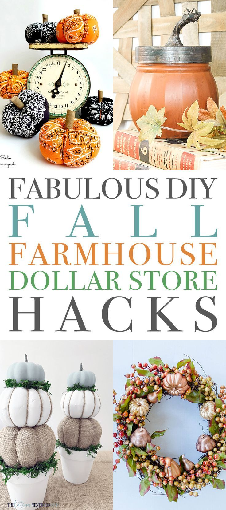 Fabuleux bricolage automne Farmhouse Dollar Store Hacks