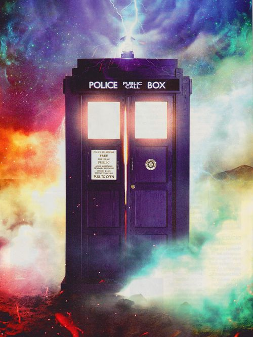 TARDIS picture from the Entertainment Weekly Magazine's Doctor Who edition