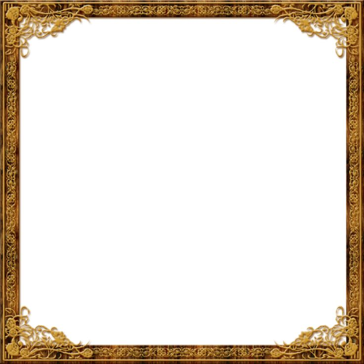 gold square frame